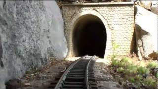 Travel aboard a miniature train (Soyons - Ardèche - France) (3D)