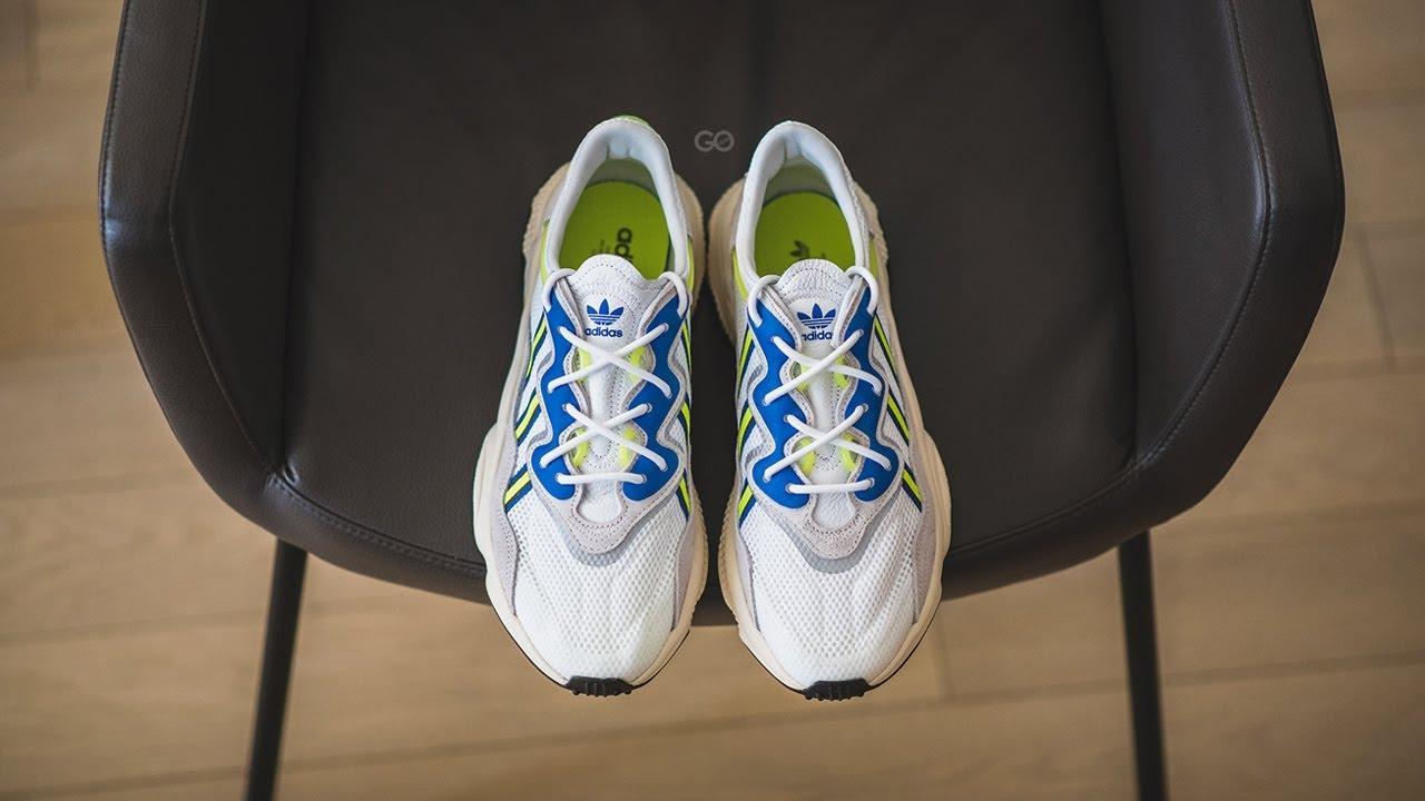 adidas ozweego white on feet