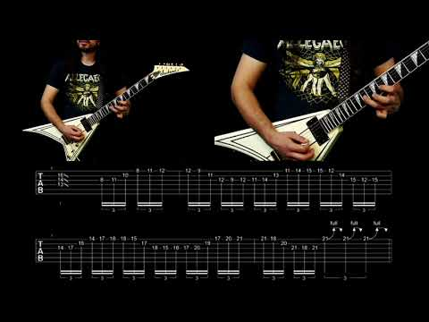 EXMORTUS - INTO THE MAW (SOLO 2 GUITAR LESSON)