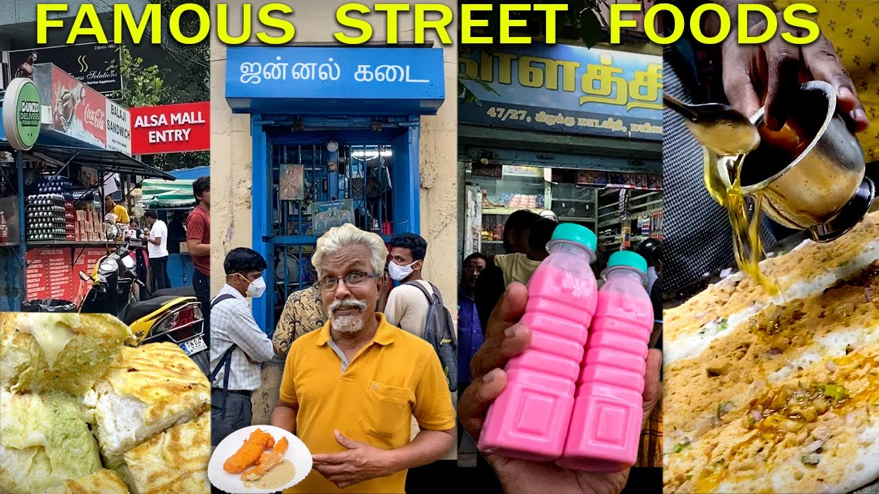Chennai Street Food Hunt 😍   Famous Places!