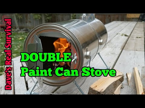 179. Double Paint Can Stove. DIY Hot Tent Heater.