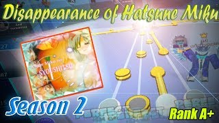 Roblox Robeats | Disappearance of Hatsune miku (Hard) 2M Score Rank A+