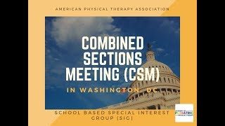 Attend the Combined Sections Meeting (CSM) This Month in Washington, DC. [SSIG]