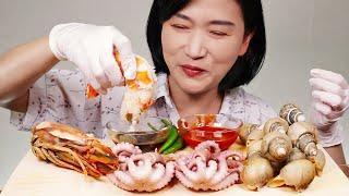 혼술안주 낙지 숙회,백골뱅이찜,킹타이거 새우찜 먹방 리…