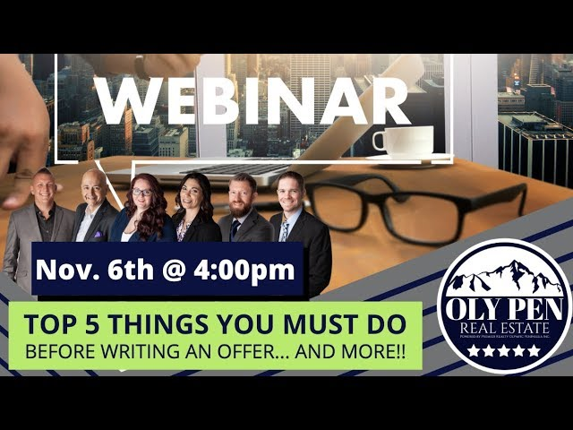 Home Buyer Webinar!! (11/6/2019) - 5 Things you MUST do! Link in Description