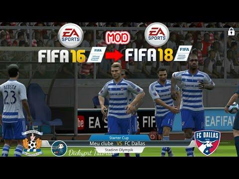 FIFA 16 MOD FIFA 18 ULTIMATE TEAM GRAFIK Super Mantap || Tutorial 2018
