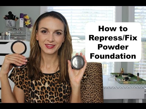 How to Repress Powder Foundation (or fix broken powder)