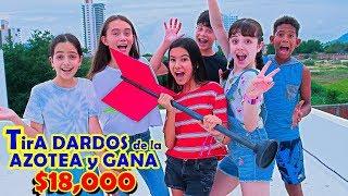 TiRA DARDOS Desde La AZOTEA Y GANA $18,000 | TV Ana Emilia