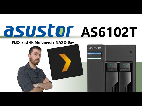 The Asustor AS6102T PLEX and 4K Multimedia NAS 2-Bay Unboxing and Walkthrough