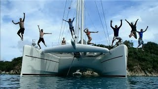 A sample 9 minute sailing vacation with sailing catamaran Orion, the 90ft Catana catamaran in HD
