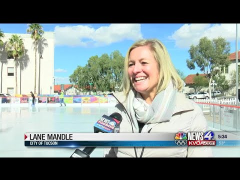 Ice Skating Rink Opens In Downtown Tucson