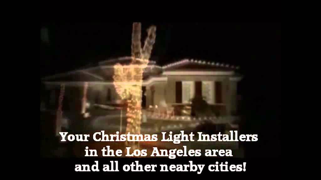 Christmas Light Installation Hawaiian Gardens CA 310.598.7447