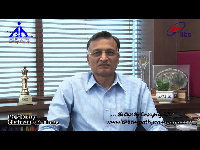 MR  S K Arya , Chairman, JBM Group, Gurgaon