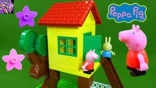 Peppa Pig's Treehouse Building Blocks Playset Rebecca Rabbit Peppa Pig Nick Jr Construction Toys Set