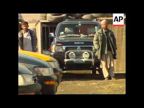 Foreign cars battle for popularity on the streets of Kabul
