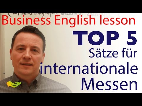 English lesson: Top 5 phrases for Trade Fairs