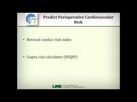 Overview of preoperative cardiac risk assessment