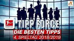 Die besten Tipps der Bundesliga-Tippforce am 4. Spieltag inklusive Millionen-Wette