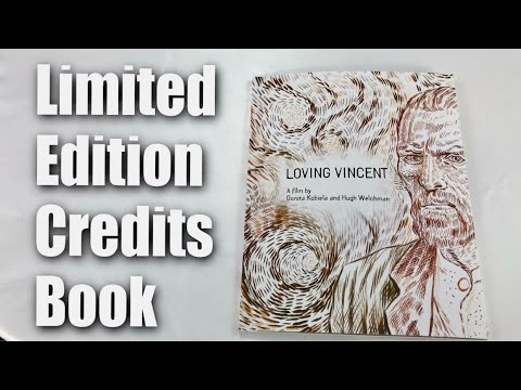 Limited Edition End Credit Book from the hand-painted movie, Loving Vincent