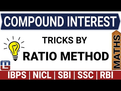 COMPOUND INTEREST TRICKS BY RATIO METHOD   MATHS   SBI   SSC   RAILWAY   OTHER COMPETITIVE EXAMS thumbnail