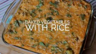 Baked vegetables with rice ✿ Запеченные овощи с рисом (vegan)