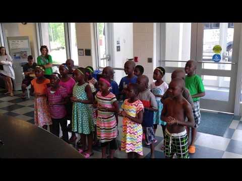 African Children's Choir at Buffaloe Road Aquatic Center part 1