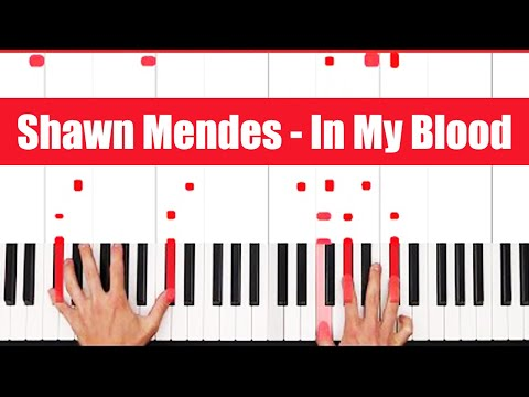 In My Blood Shawn Mendes Piano Tutorial - CHORDS