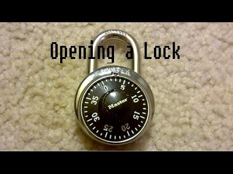 How to Open a Master Lock