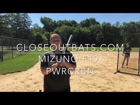 Closeoutbats.com Mizuno F19-PWR CRBN Fastpitch Bat -10oz (2019)