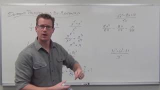 Dividing Polynomials by Monomials (TTP Video 77)