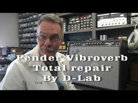How to repair fix Vintage Fender Vibroverb tube guitar amp noise + sockets D-Lab