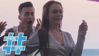 Lindsay Lohans Mykonos 'Do The Lilo Challenge' HOTTEST New Dance Craze! | Trending Topics