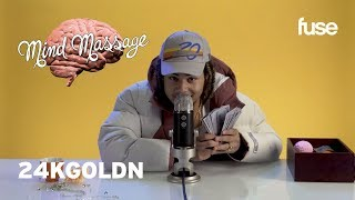 """24kGoldn Does ASMR with Kinetic Sand, Talks """"DROPPED OUTTA COLLEGE"""" & More! 