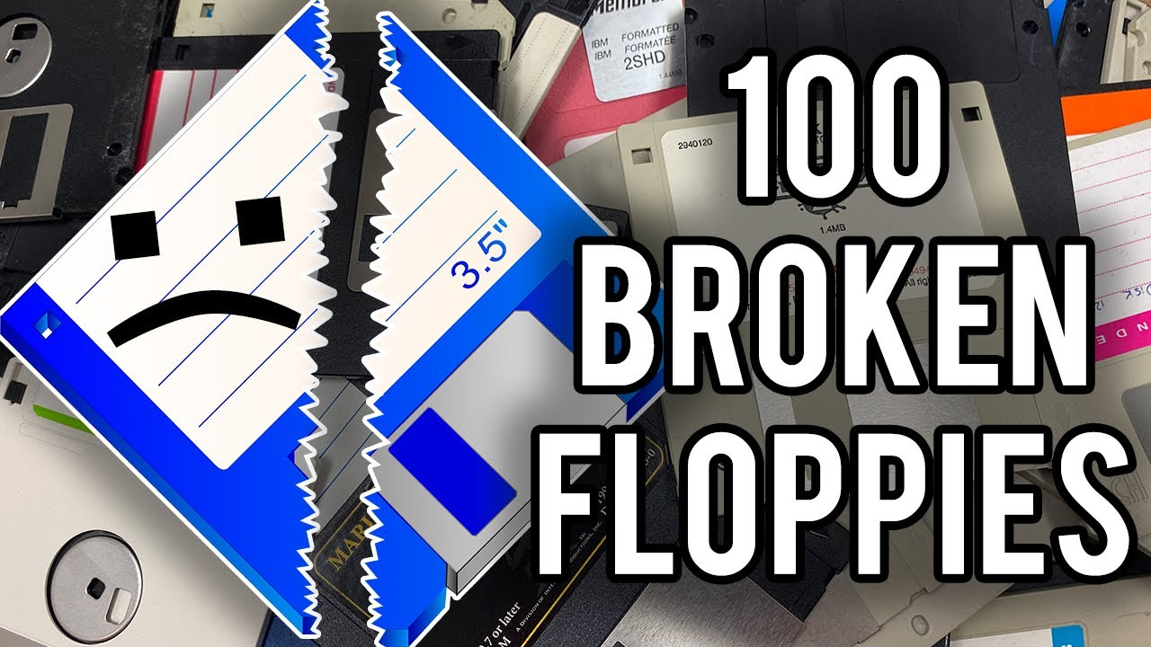 I Bought 100 Broken Floppy Disks. Here's Why!