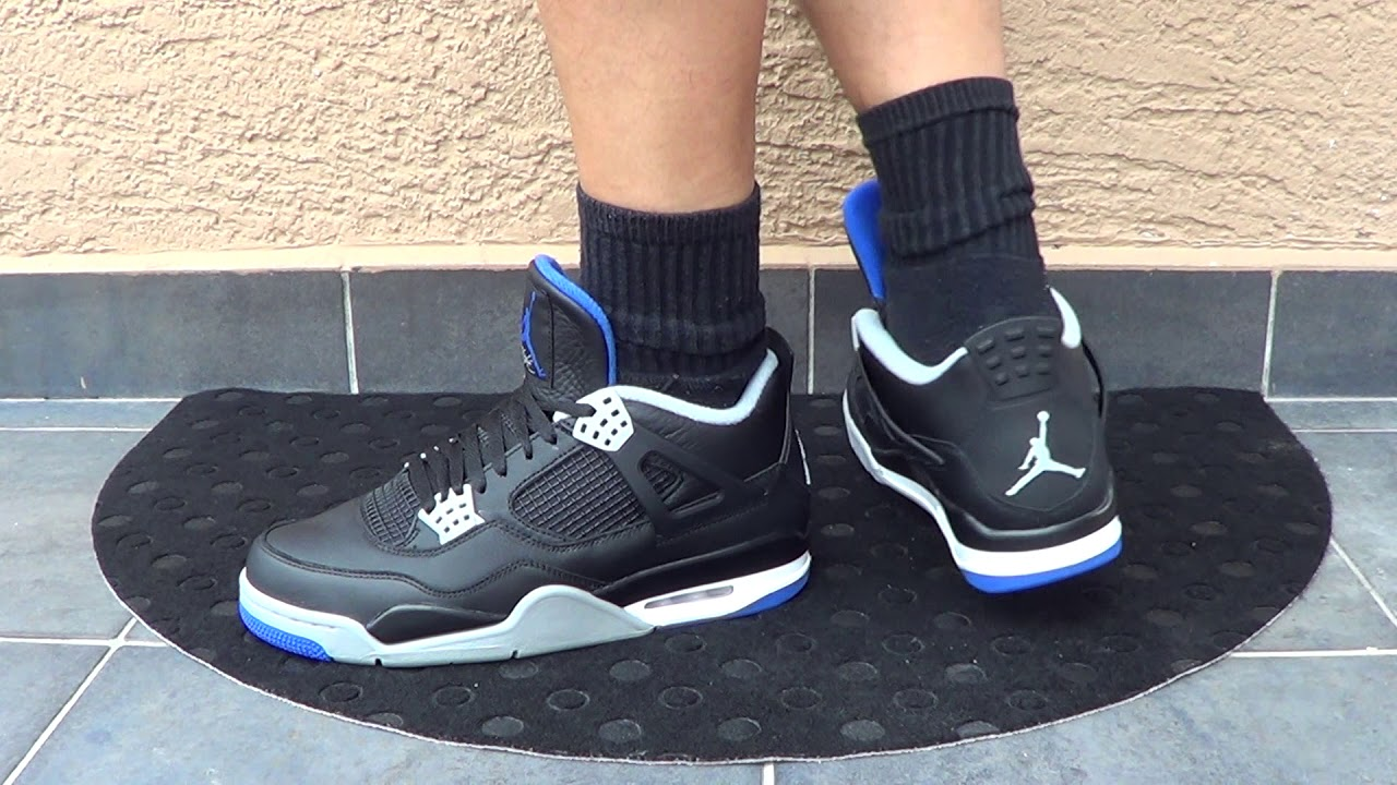 "FrenkySneaks - AIR JORDAN 4 ""SOAR BLUE"" on FEET!!! - YouTube"