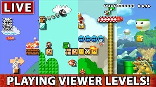 Super Mario Maker - Playing Your Levels! Impromptu Friday night stream!