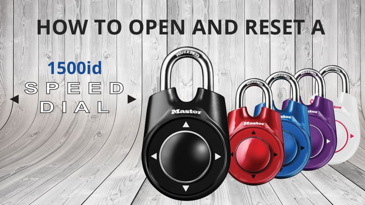 1065fc74ab8 How to Open   Reset a Master Lock 1500iD Speed Dial™ Lock - YouTube