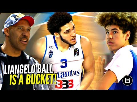 LiAngelo Ball Keeps GETTING BUCKETS Wearing Gelo G3's!! BBB Tournament Game 2!