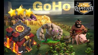 TH10 CWL skills low level heros attack ||clash of clans||