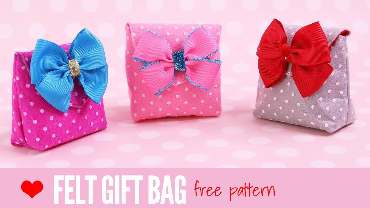 How to make a gift bag diy small gift bags felt crafts easy how to make a gift bag diy small gift bags felt crafts easy with a free template negle