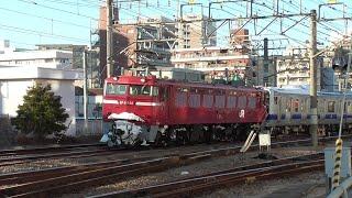 2021年1月20日 大雪のため遅延 配給列車が連続してやってきました!! 横須賀線・総武快速線用 E235系1000番台 J-06編成、勝田車両センター 所属 E531系 K456編成 JR高崎駅