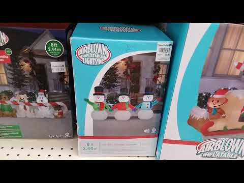 Christmas tree shop 2018 Christmas inflatables - YouTube