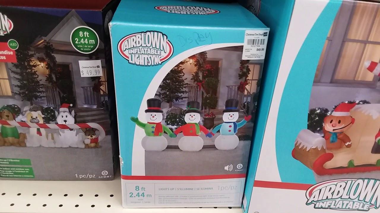 Christmas Tree Shop 2018 Christmas Inflatables Youtube