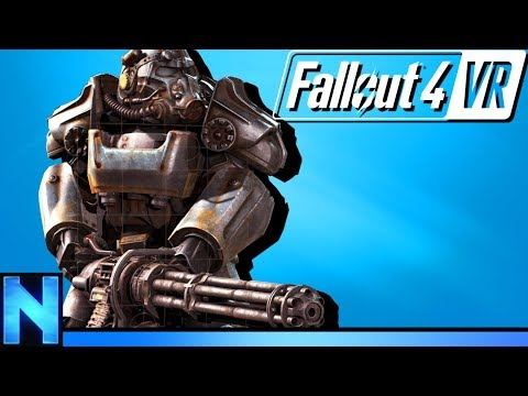 VR Power Armor & Minigun Fun In Fallout