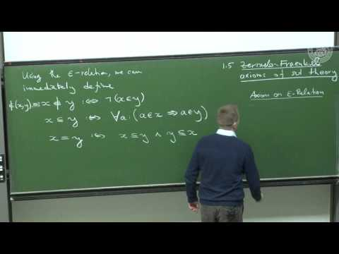 Axioms of set Theory - Lec 02 - Frederic Schuller