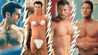 Naked Chris hemsworth