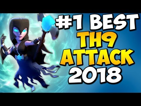 OMG! BEST TH9 ATTACK STRATEGY 2018 | Low Level Heroes Friendly | Clash of Clans