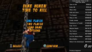 Duke Nukem:Time to Kill Speedrun (40:55 IGT / 46:01 RTA)