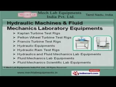 Hydraulic Machines & Laboratory Equipment By Mech Lab Equipments India Pvt Ltd., Coimbatore