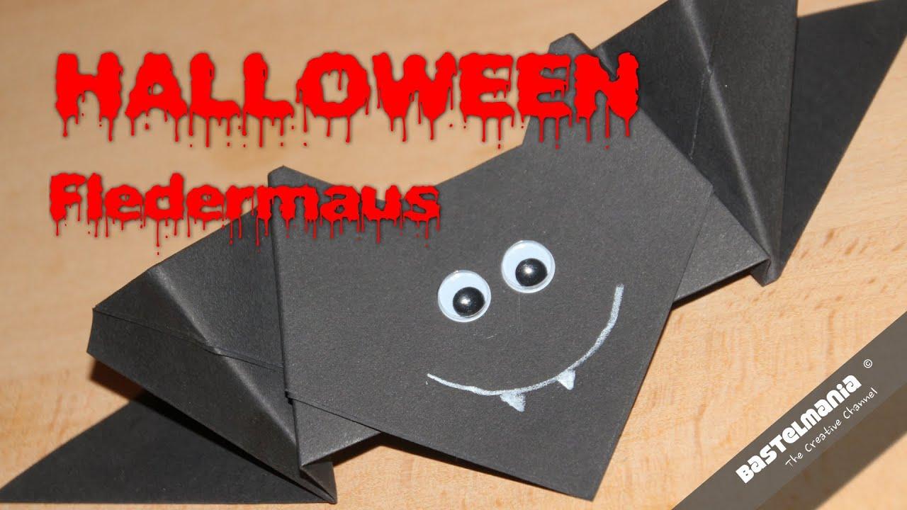 origami fledermaus halloween vampir bat youtube. Black Bedroom Furniture Sets. Home Design Ideas